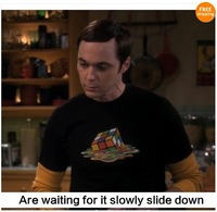 The Big Bang t-shirt Theory Sheldon Cooper Melting Rubik's Cube 8 Color Mens Tshirt Tee