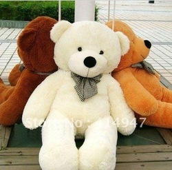 High quality 1.6m Plush toys teddy bear birthday gift 160cm big embrace bear doll Christmas gift lovers gifts free shipping 2197(China (Mainland))