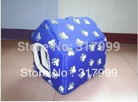 Free Shipping! Hot Sell! Water-Proof Cut Blue Pet Kennel Dog Bedding Dog House With a Pad inside 3 Sizes