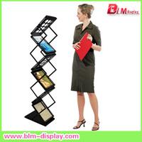 Brochure holder, double side brochure stand, catalogue shelf, display rack, magazine rack