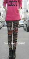 Newly Design Free shipping Winter Warm Leggings Ladies Skinny Mixed Colors  Women Cotton Leggings