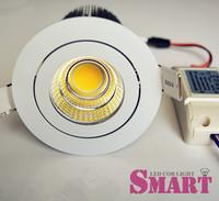 Fast Shipping,LED Ceiling Down Light 12W COB LED Chip 12W,LED Spotlight Ceiling White fixture,AC 85-265V,4PCS/Lot+Fedex Free