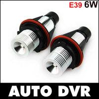 Free shipping.2Pcs/Set 12V 6W LED Marker Car Angel Eyes Bulb for BMW E39 E53 E61 E64 E65 E66 E87