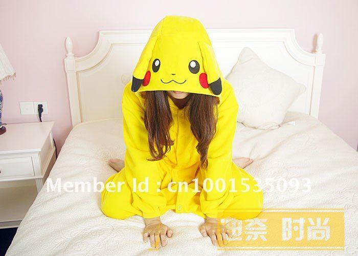... Новый Японии аниме покемон Пикачу косплей костюм kigurumi пижамы s m l  ... fe279b4eadd60