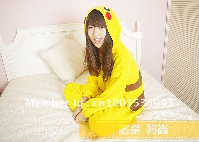 ... Новый Японии аниме покемон Пикачу косплей костюм kigurumi пижамы s m l 57e89b07d5653
