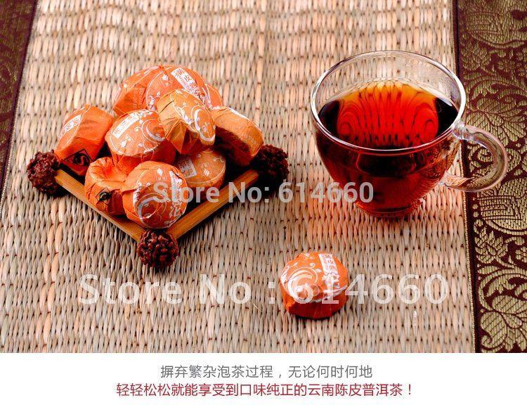 Buy 5 get 1 On Sale 30 pcs bag Orange Pu er tea Mini Yunnan Puer