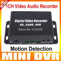 1CH Mini DVR CCTV Camera Audio/Video SD Card DVR CCTV Recorder Motion Detection DVR Recorder