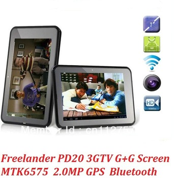 7inch  FreeLander PD20 3G  MTK6577 1GB /8GB  TV GPS  HD Screen Android 4.0  GSM /WCDMA Dual Camera Tablet PC calling phone