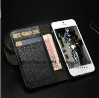 Flip leather case for iPhone5g 4s 4g stand cover multi function wallet case with credit card holders case for iphone 4S 4g