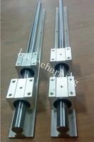 2pcs SBR20-1500mm 20mm FULLY SUPPORTED LINEAR RAIL SHAFT + 4pcs SBR20UU Linear bearings CNC