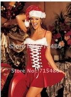ML8012  Santa Girl Costume, Christmas Costume Sexy Santa Girl Costume