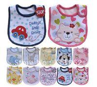 5pcs/lot Mixed  types cotton  baby bibs waterproof infant bibs hot