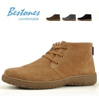 Free shipping man leather shoes  / fashion men's shoes / Men's snow boots