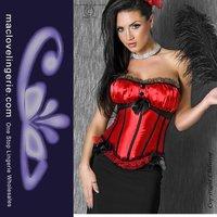 ML4023 Free Shipping Sexy Women Red Black Lace Strapless Beautifu Party Wear Sexy Wonder Women Costume Sexy Corset
