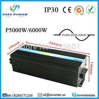 Pure Sine Wave DC 12V 24V 48V to AC 110V 220V 240V 5000W/5KW High Power Inverter for Air-condition/Refrigerator/ Pump