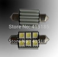 Free shipping white Canbus 12V 36mm 39mm 6SMD 5050 LED Car Auto Light Bulbs LED License Plate Light LED Festoon Light Bulbs