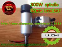 Shop Promotions FREE 1pcs ER11 chuck 0.3kw spindle  DC 12-48 CNC 300W Spindle Motor Mount Bracket 24V 36V for PCB Engraving
