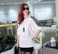Free shipping 2012 women&#39;s sweaters Fashion Leopard printed pullovers black&amp;white /women&#39;s dress Wholesale 2201