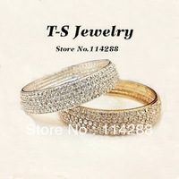 Free Shipping TS Hot Sale Beatiful Quality Sparking Queen Full Rhinestone Female Bangle Fashion Elegant Bracelet (min order>$10)