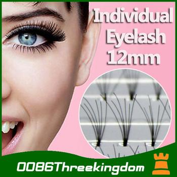 4box 12mm long soft Black Individual Extension Eyelash Lash Party wedding date fashion Makeup Tool 60pcs/Box MU0012#4H