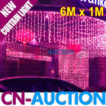 FS! 6Mx1M 224 LED String Light Curtain Light Festive Decoration Lights Background Lights for Wedding/Christmas/Garden (CN-LSL37)