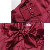 2013 NEW Korea Women's  Ladies bowtie OL shirt Long Sleeve Vintage ShirtsTops blouse 3 Colours New free shipping 3847