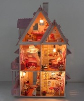 Free shipping  Sunshine Alice Diy large house, Wooden dollhouse miniature Fashion gifts