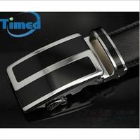 2014 men automatic buckle  vintage leather belt  Black 115,120,125cm  long length letter S buckle men brand belt Free Shipping