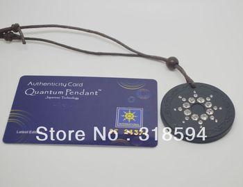 scalar energy pendant with cz stones cubic zirconia white crystal quantum science pendant