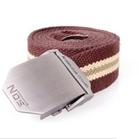 Top-quality military belt Men's thicken canvas belt automatic buckle original factory supply free shipping wholesale