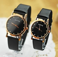 holiday sale new arrival crystal leather strap watch women ladies men fashion love pair dress wrist watch GO021