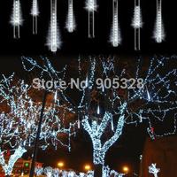 Freeshipping 8pcs a set Double-side LED christmas light decoration Snow fall tube snowing led meteor tube led raining tube light