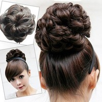 HOT SALE Girl's Lady Woman Curly Sexy 5 colors stylish WAVE Hairpiece Hair Bun Extensions