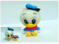 New plastic cartoon duck USB flash drive 4GB 8GB 16GB 32GB/metal gift memory stick/doctor/cat/crystal company free shipping