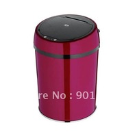 6L China red-touchless automatic trash can-waste bin-garbage can