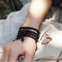 Wholesale 108*6mm Genuine Black Sandalwood Beaded Bracelets/Buddhist Pure Sandalwood Prayer Malas/Good Health Care/Free Shipping