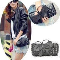 Bag Shoulder Designer Butterfly Bow-knot Clutch Purse Wristlet Evening Bag Chain Wallet Handbag Black Ladies Bags XMS060