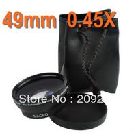 Free shipping 49mm 0.45X Professional Wide-Angle Lens+Macro Conversion for NEX5C NEX3C NEXC3 NEX5N