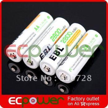 2800mAh 1.2V  Rechargeable AA Battery Ni-MH Battery 4pcs/set Wholesale  Ecpower Free Shipping 1set/lot