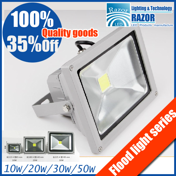 Wholesale manufacturers Free fast shipping Epistar chip 10W 20W 30W 50W led flood light warm white/white 85~265V outdoor Lamp.(China (Mainland))