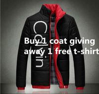 Free shipping men jacket fashion leisure warm man down jacket men coat