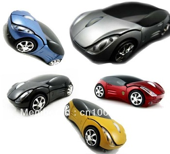 (1pcs/lot)100% New Car Mice USB 2.0 Wireless 2.4GHz Optical Mouse  for Laptop PC MAC free shipping