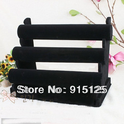 Brand new and high quality 3-Tier Velvet Watch Bracelet Jewelry Display Holder Stand Rack(China (Mainland))