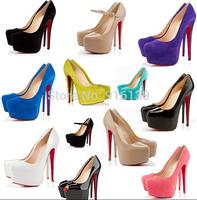 Hot Women Platform Peep Toe Pumps Thin High Heel Career Working Shoes 16cm Brand Wedding Shoes Sapatos Femininos