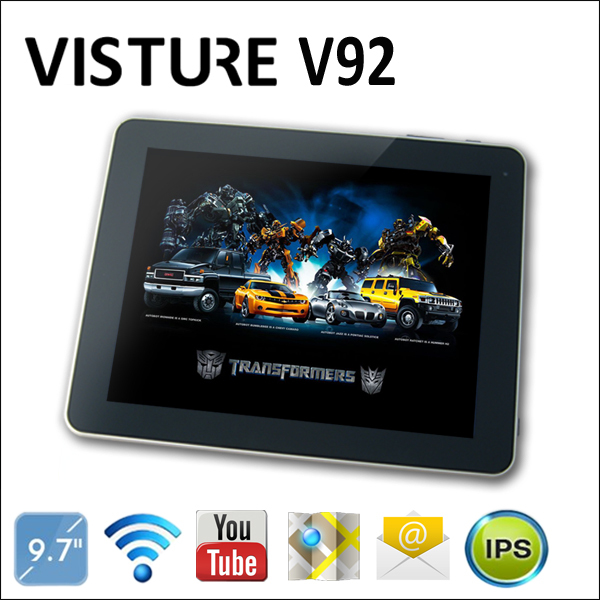 Free Shipping VISTURE V92 9.7inch Allwinner A10 1.2-1.5GHz 1GB RAM 16G ROM Android 4.0 Dual Carmera Multi Touch HDMI Wifi New(China (Mainland))