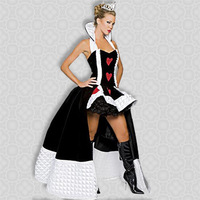 ML5030 Newly Arrival CPAM Free Shipping Enchanting Queen Of Hearts Costume Halloween Costume For Women