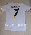 13-14  Real Madrid Thai  quality 7# Ronaldo soccer jersey (only shirts) ,soccer shirt + can cumtoms name&number