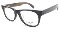 wood glasses frame fashion full rim acetate framework with nature wood temples  big square optical frames for men ZAF0018