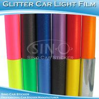 "SINO CAR STICKER Free Shipping 0.3x9M 12""x354"" Newest 12 Colors Glitter Car Headlight Vinyl Sticker"