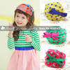 New! Summer Autumn fashion children girl kids Hair Accessories 5color Beret headband Bow Dot chiffon hairbands Free shipping F92